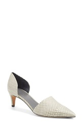 Vince 'Aurelian 4' D'orsay Pointy Toe Pump Women Charcoal White Snakeskin
