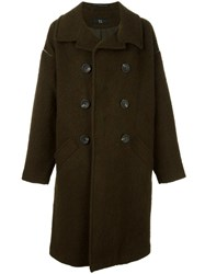 Y's 'U Big' Coat Green