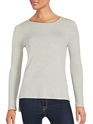 Saks Fifth Avenue Ribbed Hi Lo Knit Top Charcoal