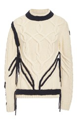 Orley Sonnier Cableknit Sweater Ivory