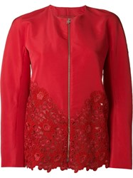 Moncler Gamme Rouge Macrame Hem Jacket Red