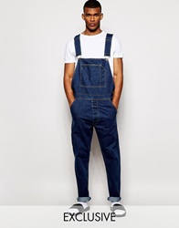 Reclaimed Vintage Distressed Dungarees Blue