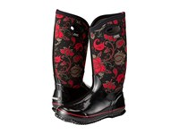 Bogs Classic Paisley Floral Tall Black Multi Women's Waterproof Boots