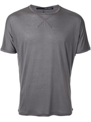 Isabel Benenato Plain T Shirt Grey