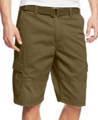 American Rag Men's Belted Relaxed Cargo Shorts Tank