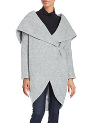 Zac Posen Camilla Wool Blend Wrap Coat Grey