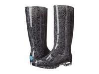 Toms Cabrilla Rain Boot Black White Tribal Print Women's Rain Boots