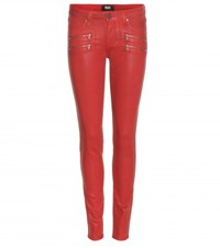 Paige Edgemont Ultra Skinny Transcend Jeans Red