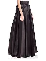 Milly Bow Embellished Silk Organza Ball Skirt Black