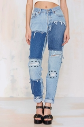 After Party Vintage Patch Werk Jeans