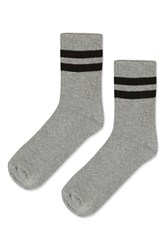 Topshop Sporty Tube Ankle Socks Grey Marl