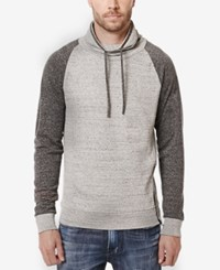 Buffalo David Bitton Men's Forest Colorblocked Funnel Neck Sweatshirt Heather Charlie
