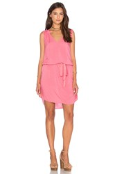 Velvet By Graham And Spencer Mirasol Dobby Challis Dress Pink