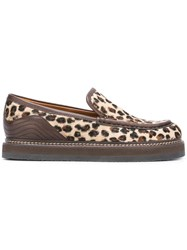 See By Chloe Leopard Print 'Christie' Loafers Nude Neutrals