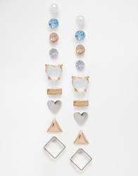 New Look Eclectic Multipack Earrings Silver