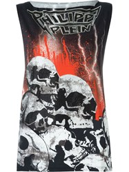Philipp Plein 'Dead Land' Tank Top Black