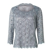 Jacques Vert Stretch Lace Top Dark Grey