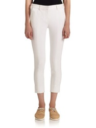 Reed Krakoff Cotton Canvas Cropped Pants Cobalt