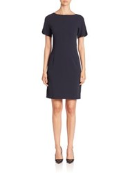 Piazza Sempione Boatneck Sheath Dress Black