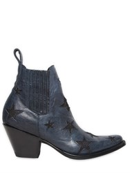 Mexicana 65Mm Leather Ankle Boots W Stars