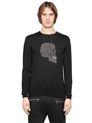 Markus Lupfer Happy Skull Intarsia Wool Sweater