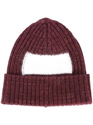 Oamc Ribbed Beanie Red