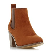 Head Over Heels Paseve Block Heel Chelsea Boots Tan