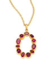 Gurhan Amulet Hue Ruby And 24K Yellow Gold Pendant Necklace