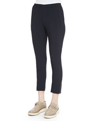 Stella Mccartney Tamara Relaxed Tapered Track Pants With Elastic Waist Navy