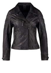 Gipsy Joyce Lasov Leather Jacket Anthra Anthracite