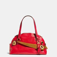 Coach 1941 Outlaw Satchel In Grain Leather Brass Red