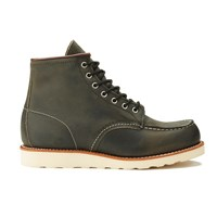 Red Wing Shoes Red Wing Men's 6 Inch Moc Toe Leather Lace Up Boots Charcoal Rough And Tough Green