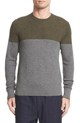 Rag And Bone Men's Camden Colorblock Cashmere Crewneck Sweater