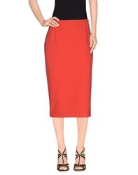 Just In Case Skirts Knee Length Skirts Women Red