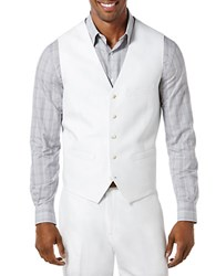 Perry Ellis Pointed Twill Vest Bright White