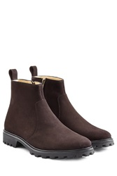 Victor Suede Ankle Boots Brown