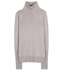 Loro Piana Glace Cashmere Turtleneck Sweater Grey