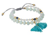 Chan Luu 6' Adjustable Light Blue Mix Double Strand Single Bracelet Light Blue Mix Bracelet