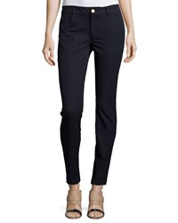 Minnie Rose Skinny Stretch Twill Ankle Pants Navy