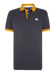 Canterbury Of New Zealand Classic Ccc Pique Polo Shirt Grey