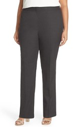 Sejour Plus Size Women's Glen Plaid Suit Pants Charcoal Check Pattern