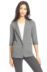 Soft Joie 'Neville' Knit Blazer Dark Heather Grey