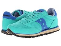 Saucony Jazz Low Pro Vegan Bright Green Blue Women's Classic Shoes