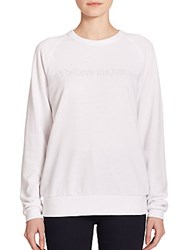 True Religion Joan Smalls X 'Don't Believe Me Just Watch' Printed Sweatshirt White