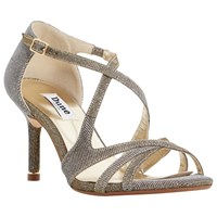 Dune Marilyn Occasion Cross Strap Sandals Gold