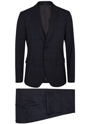 Tiger Of Sweden Gekko Navy Checked Wool Suit