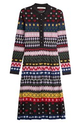 Mary Katrantzou Printed Knit Dress With Metallic Thread Multicolor