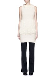 3.1 Phillip Lim Fringe Knit Tank Dress White