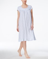 Eileen West Cap Sleeve Nightgown Peri Print