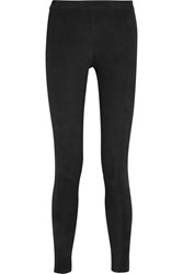 American Vintage Geer Stretch Suede Leggings Black